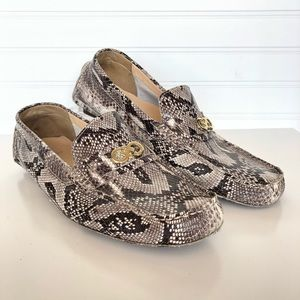 Cole Haan Shelby Snakeskin Driving Loafer 10